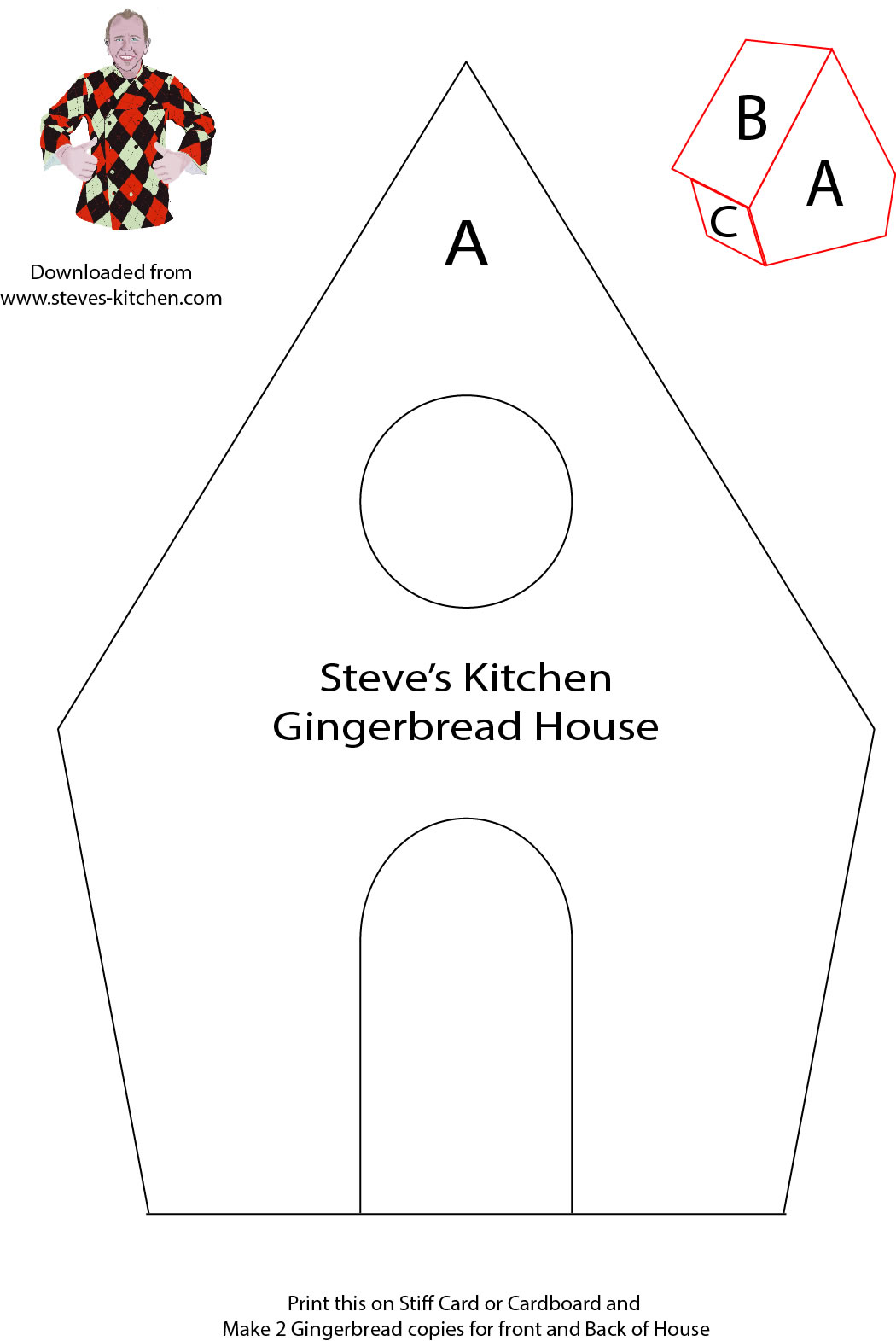 Adaptable image intended for printable gingerbread house patterns