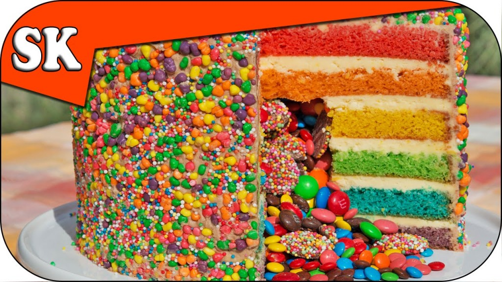 Rainbow Cake Surprise Nutella