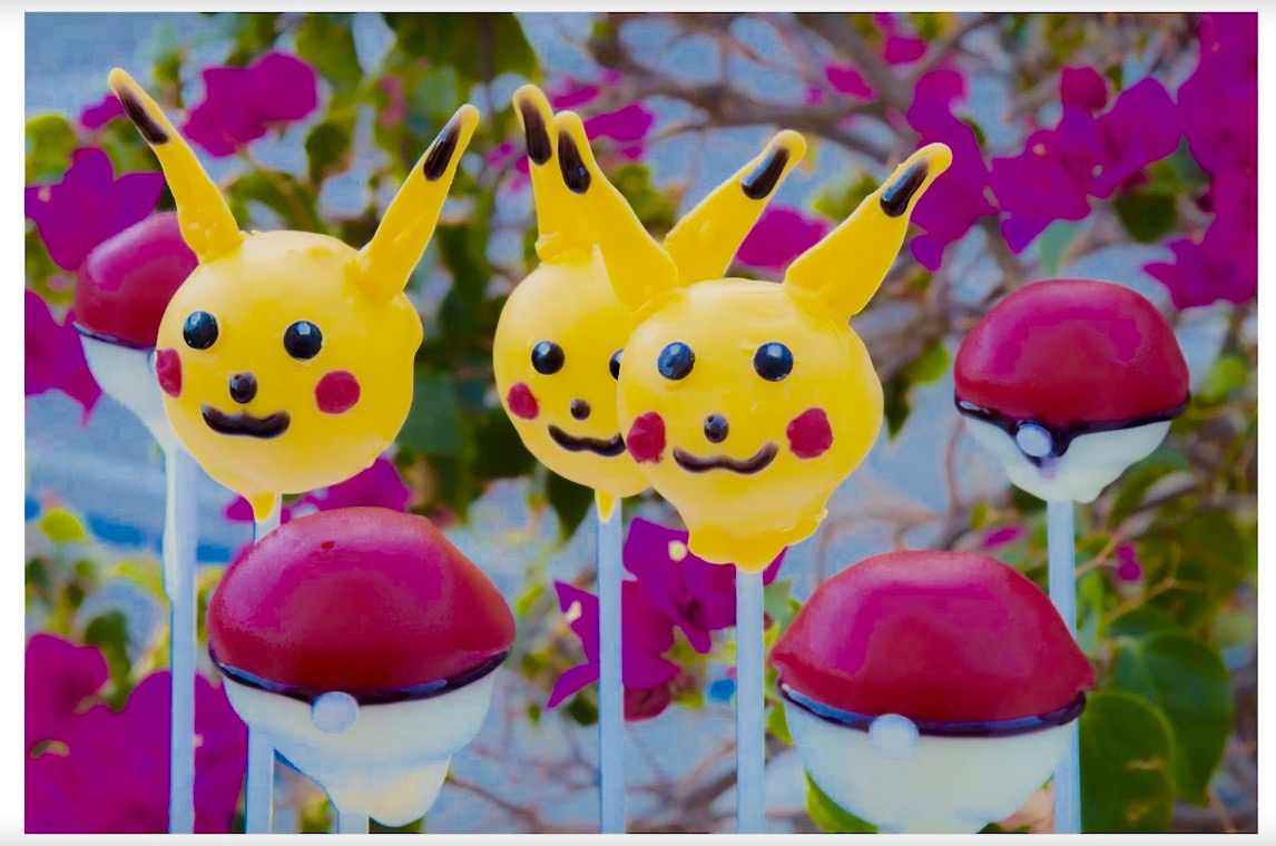 Pikachu Cake Pops