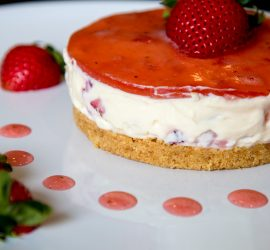 An Easy No Bake Strawberry Cheesecake Once Again Made In My Very Basic Student Kitchen In Kuala Lumpur This Is So Simple To Make And You Need Very Little