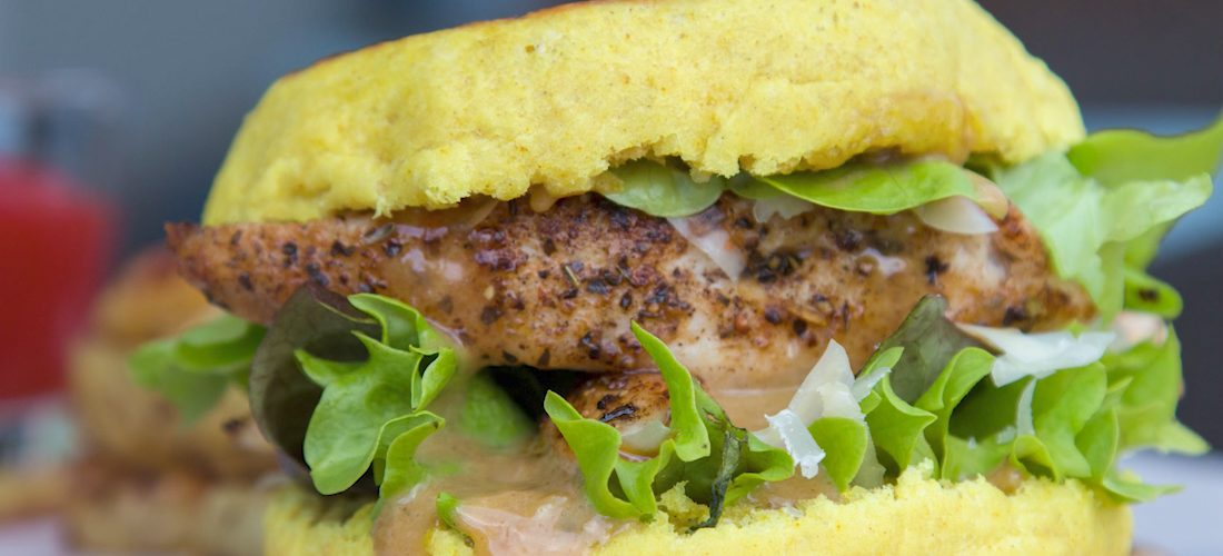 how to make chicken burger at home without oven